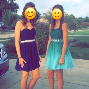 Dresses & Skirts - navy blue homecoming/ fancy dress!